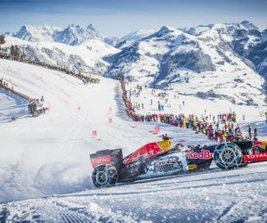 Quand Max Verstappen pilote une Formule 1 sur une piste de ski à Kitzbühel et fait le bonheur de Red Bull