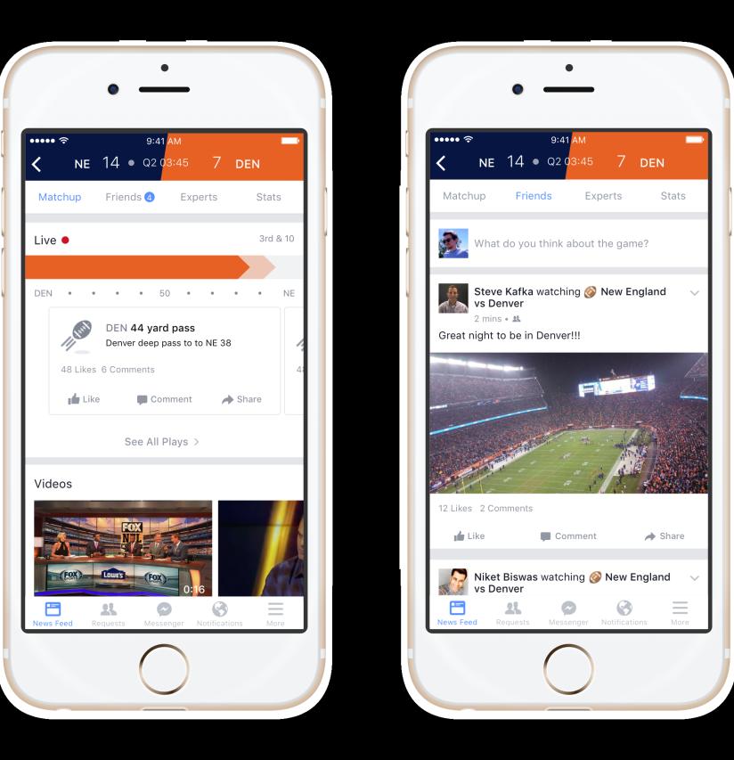 Facebook sport stadium