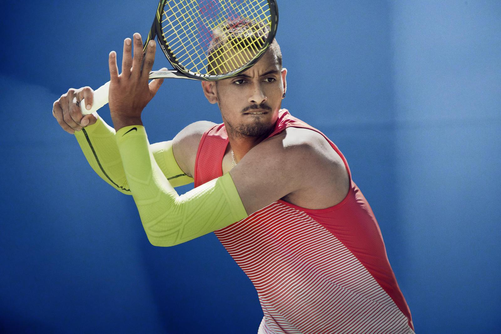 Nick Kyrgios Nike outfit australian open 2016 sleeveness