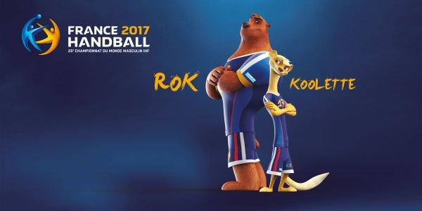 Voici rok koolette les deux mascottes du championnat du monde de handball masculin 2017 - Hand ball coupe du monde ...