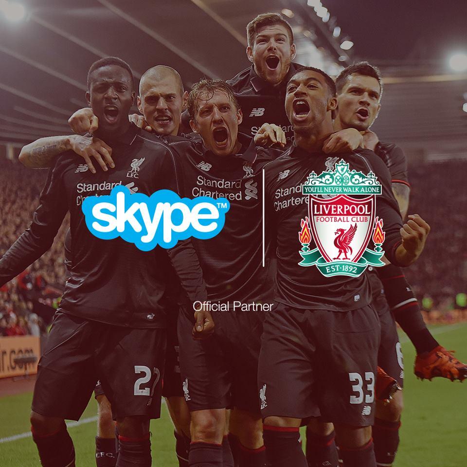 Skype liverpool FC sponsorship