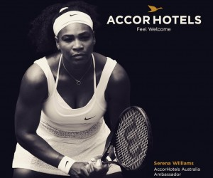 Serena Williams ambassadrice d'AccorHotels lors de l'Open d'Australie 2016