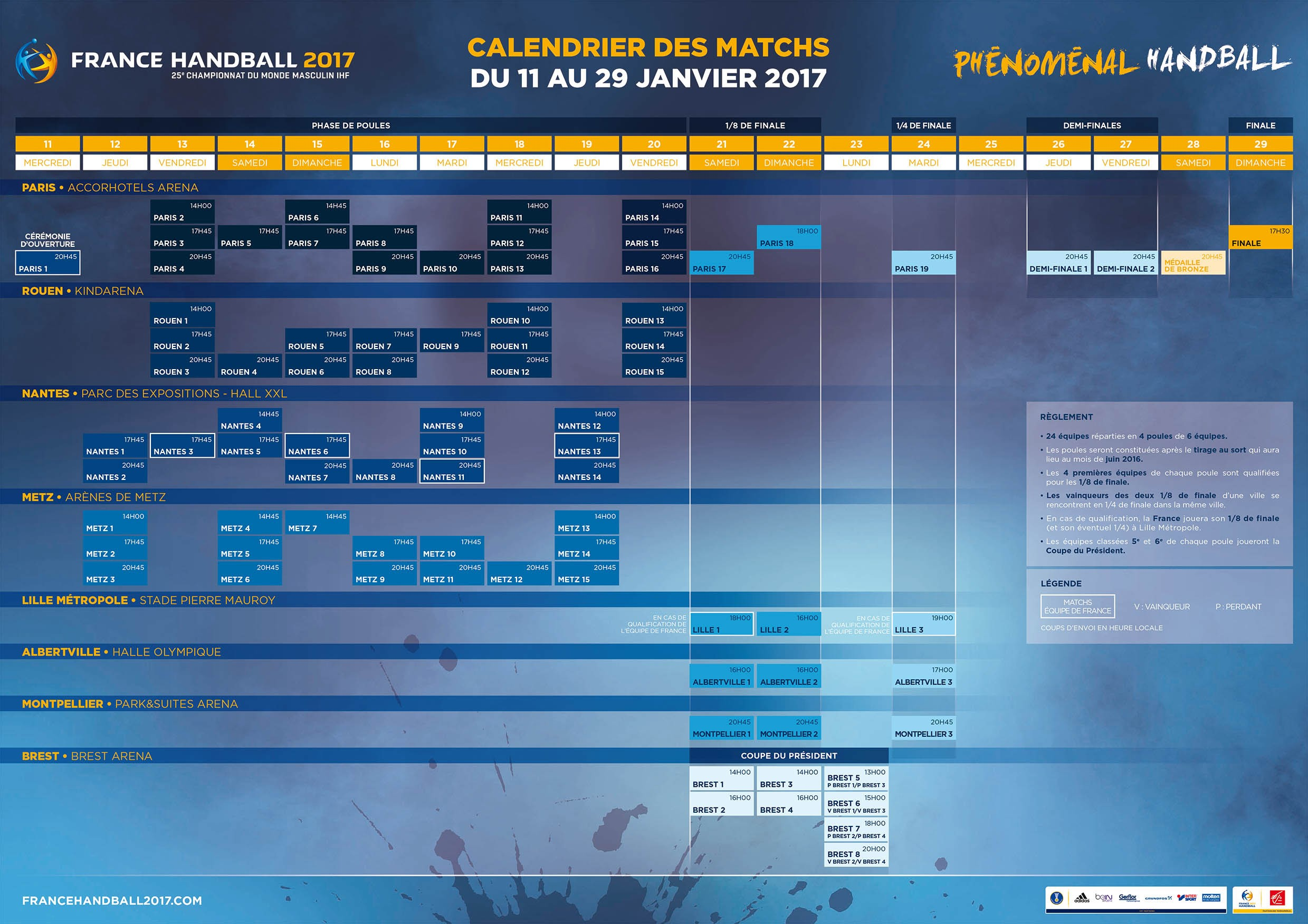 Du monde de handball 2017 for Championnat du monde de boules carrees