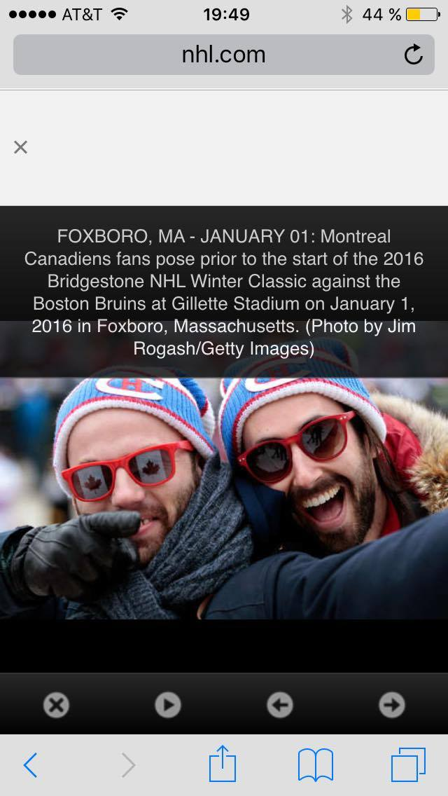 fan canadiens de Montréal winter classic 2016 NHL gillette stadium