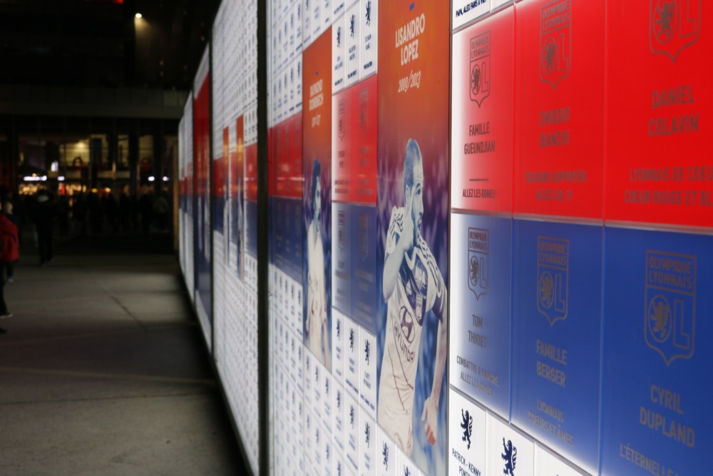 fan wall parc olympoque lyonnais