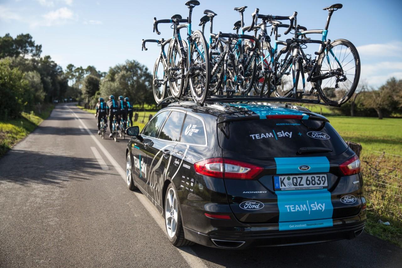 Tour De France Team Car