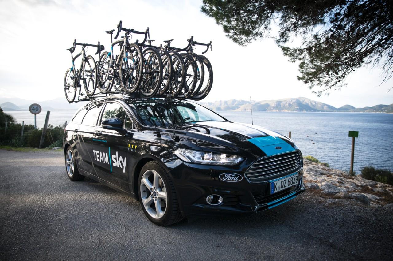 ford mondeo TEAM SKY cyclisme sponsor auto