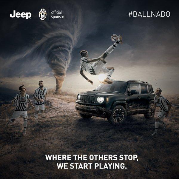 jeep paul pogba juventus turin 2016 publicité