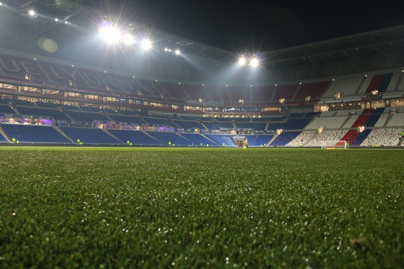 pelouse parc Olympique Lyonnais OL grand stade