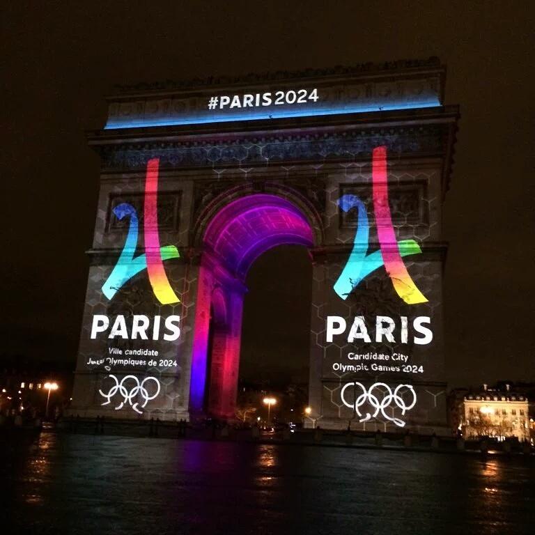 Logo paris 2024 JO candidature arc de triomphe