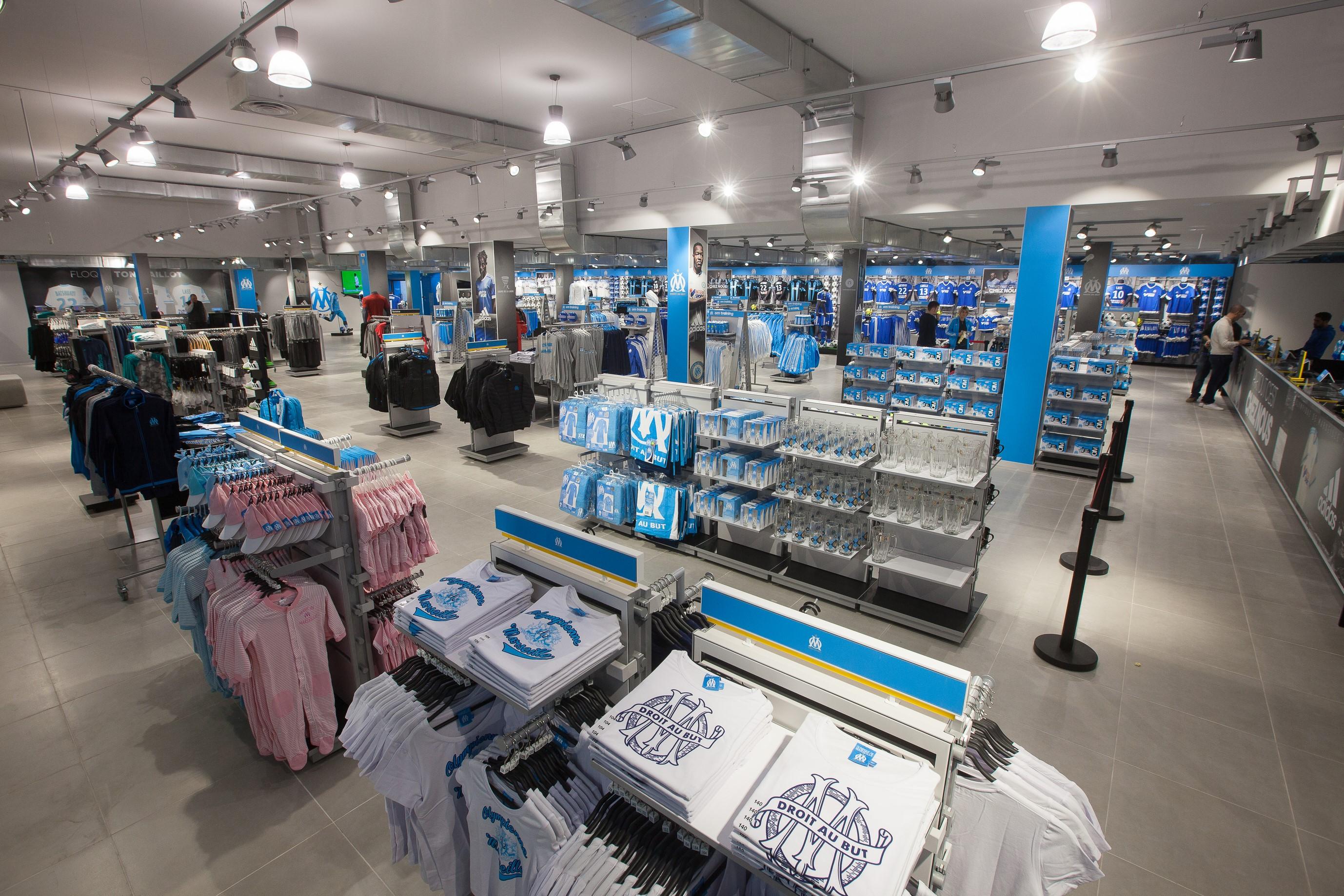 Comment la nouvelle boutique officielle de l'OM doit tirer