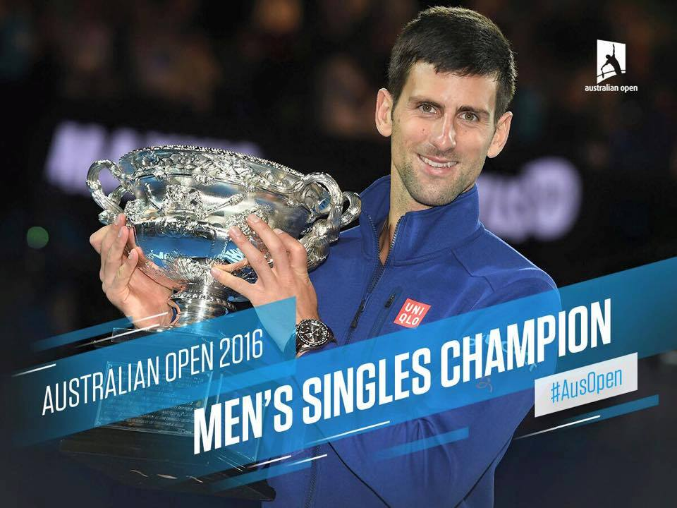 Novak Djokovic prize money open australie 2016 tennis business