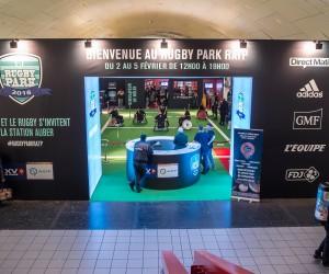 Une odeur d'Italie et de sueur à la station Auber pour le Rugby Park RATP