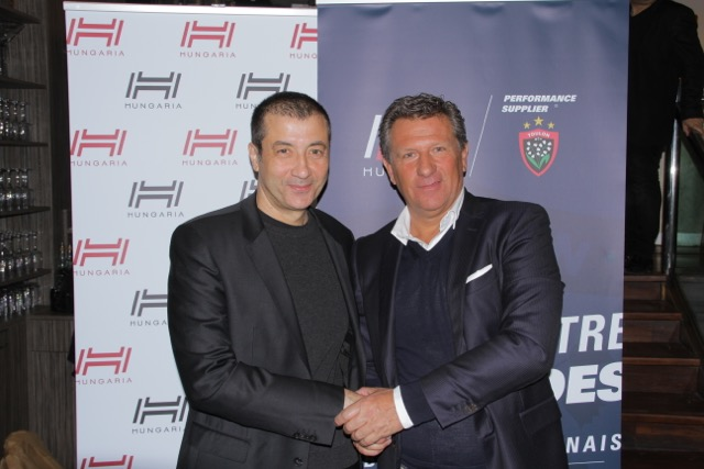 Hungaria RC Toulon Mourad Boudjellal et Pierre Arcens