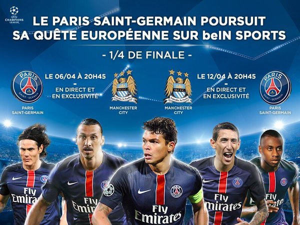 PSG manchester city bein sports 2016