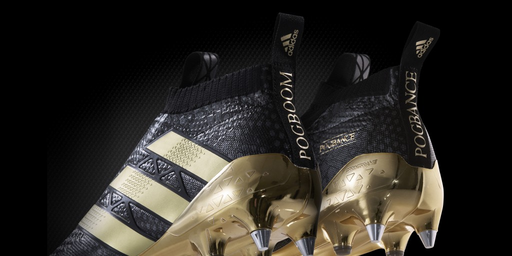 official photos 3e655 57678 ... Paul Pogba chaussures football adidas noir et or ACE 16+ PURECONTROL  2016 ...