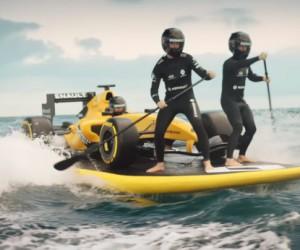 """Formule 1 – Renault lance sa saison avec une mise en scène """"sea, surf and sun"""""""