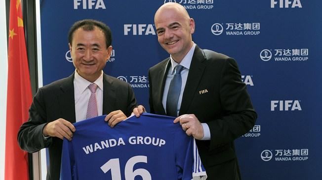 Wanda group sponsor FIFA 2030 football