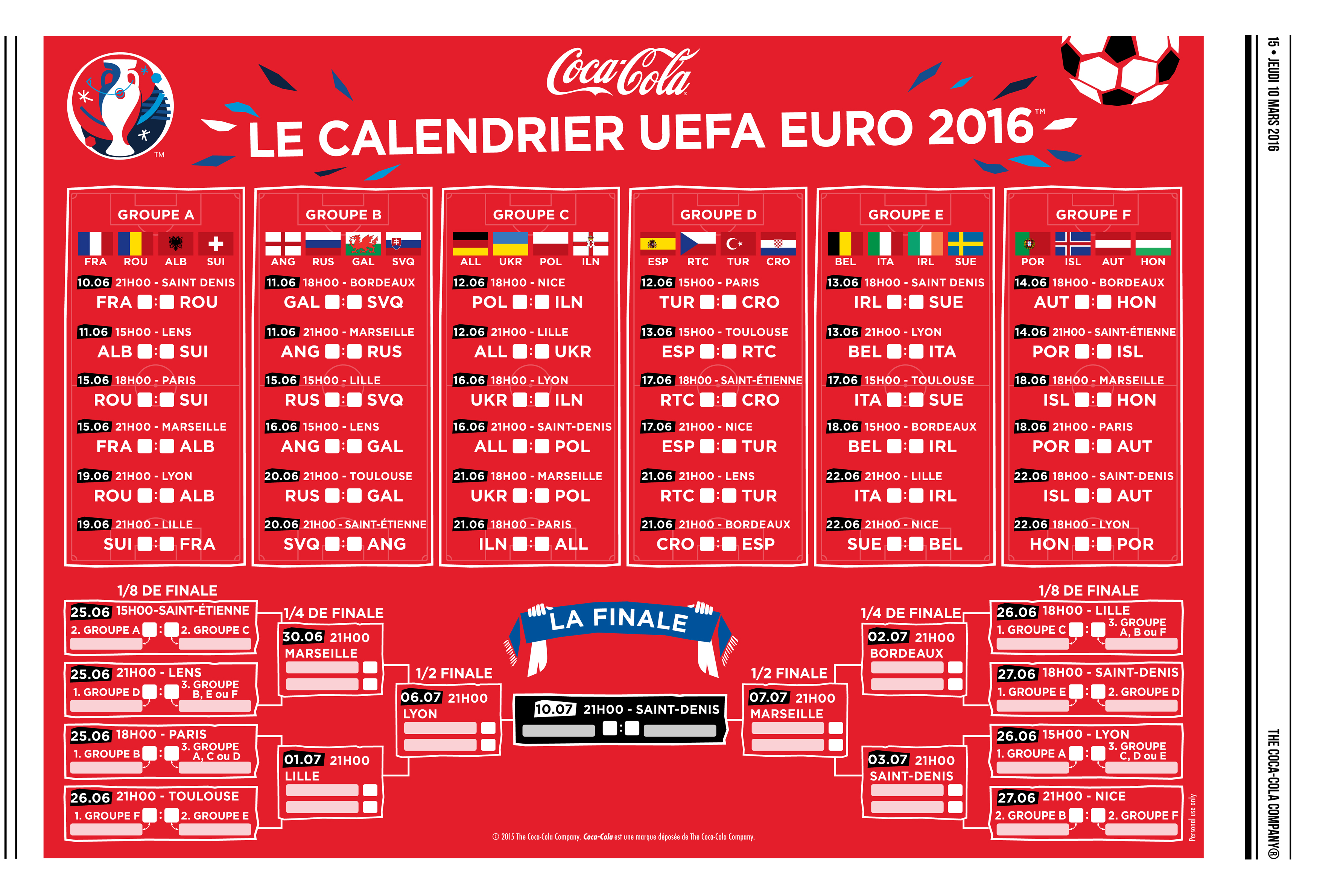 uefa euro 2016 comment coca cola va envahir le quotidien des fran ais dossier. Black Bedroom Furniture Sets. Home Design Ideas