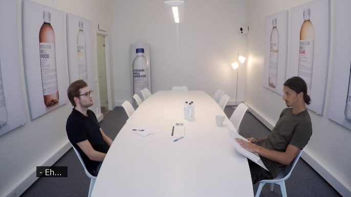 caméra cachée zlatan ibrahimovic Vitamin well entretien d'embauche