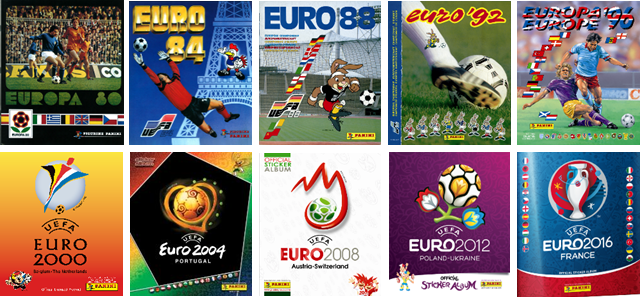 collection albums Panini UEFA EURO