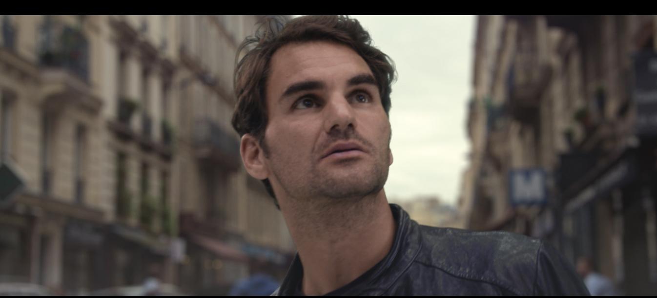 federer dinosaure rues de Paris publicité sunrise
