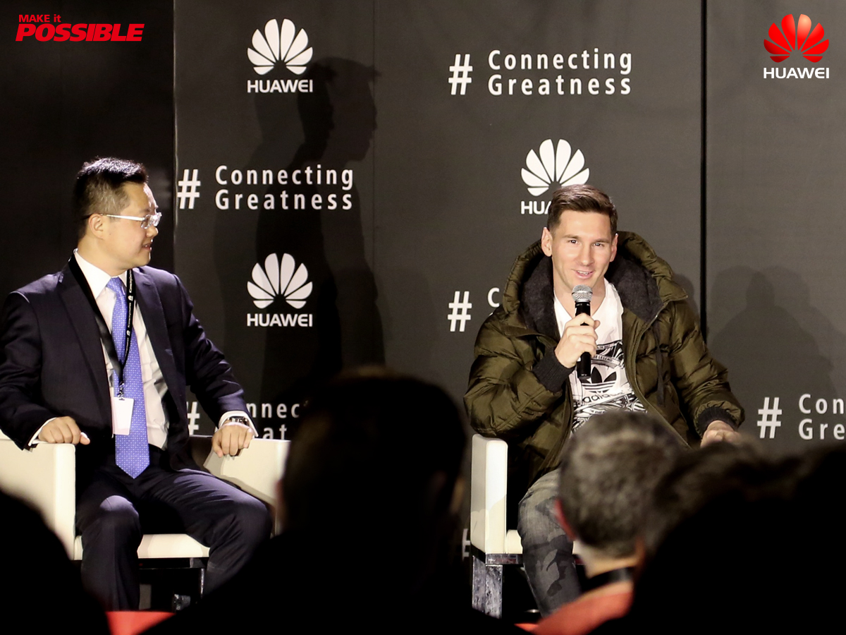 messi huawei press conference