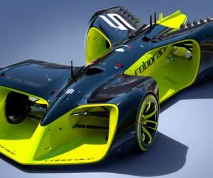 Découvrez les premières images de «Roborace», la voiture de course sans pilote
