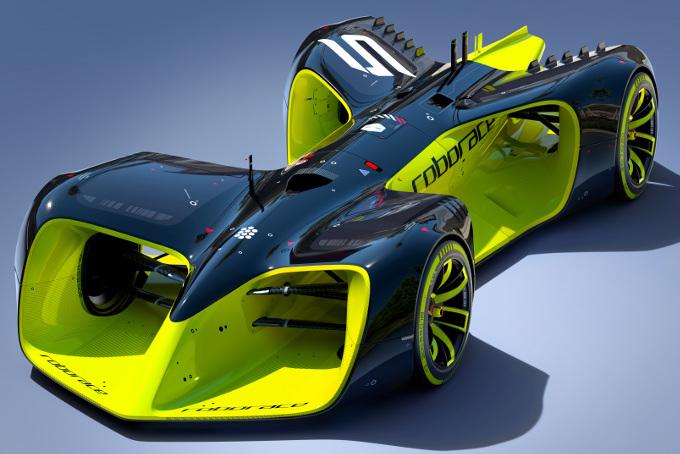 roborace autonomous race car FIA Formula E Daniel Simon