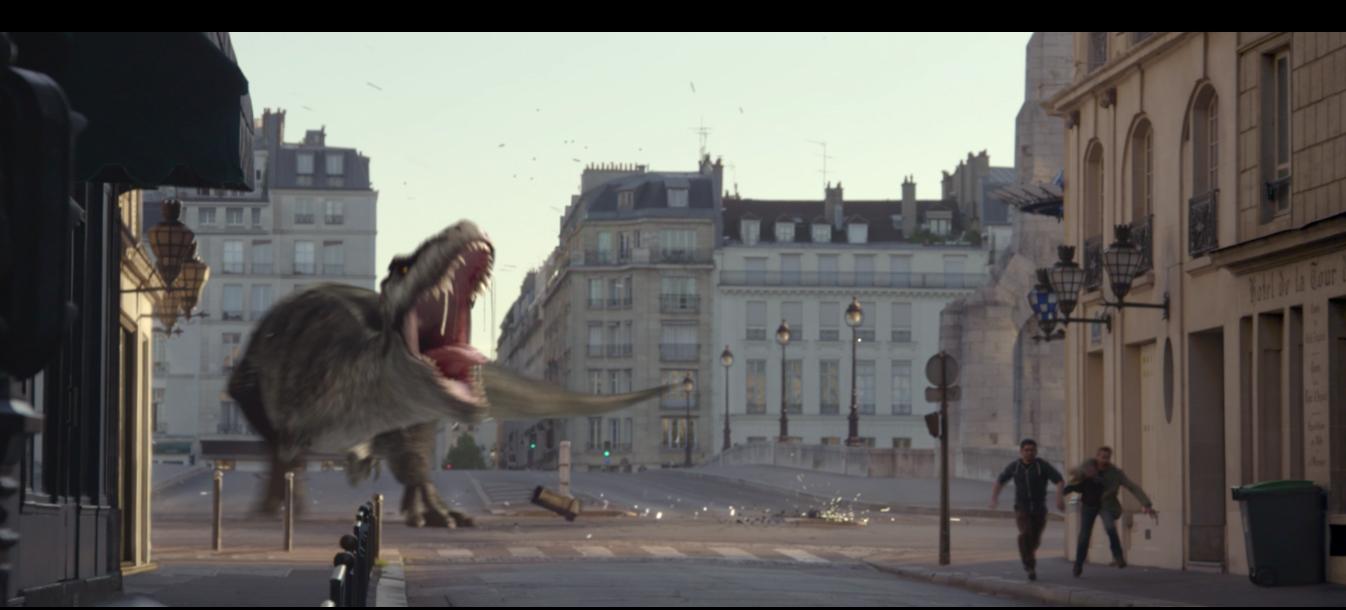 roger federer dinosaure rues de Paris publicité sunrise
