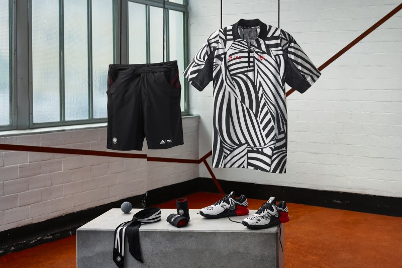 Alexander Zverev adidas tennis outfit Roland Garros 2016 Y-3 zèbra