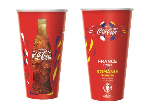 Coca-Cola gobelet recyclable UEFA EURO 2016 plastique