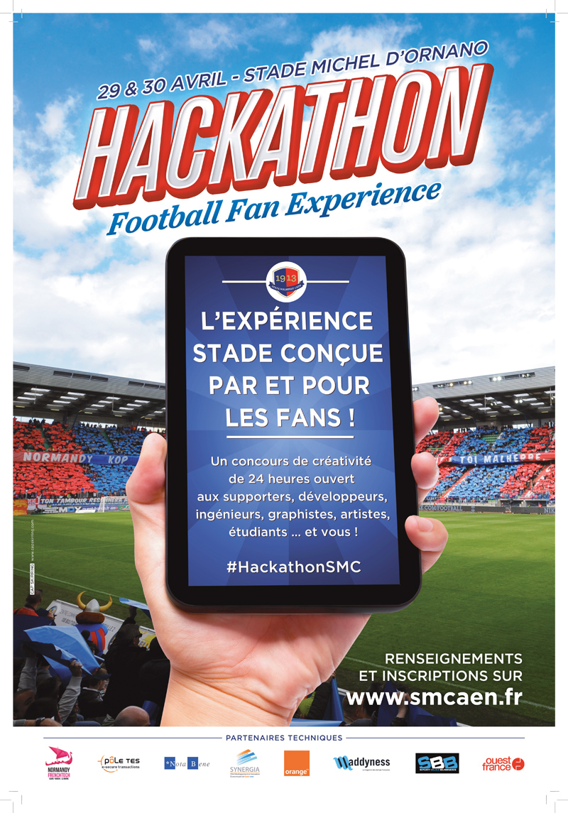 Hackathon Stade malherbe caen football fan experience football 2016 concours créativité