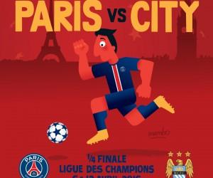 """PSG – Manchester City – Un goodies """"artistique"""" à 10€ pour le 1/4 de finale de Champions League"""