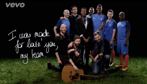 Skip The Use chanson officielle Equipe de france football UEFA EURO 2016 I was made for lovin' you, my team