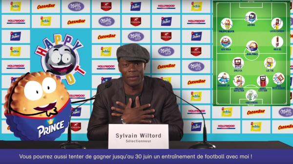 Sylvain Wiltord sélectionneur Happy Team Happy foot mondelez