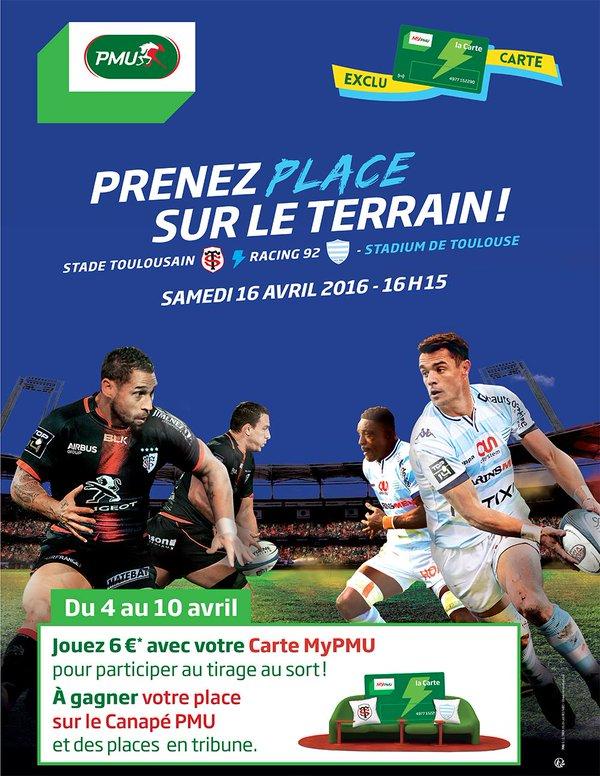 canapé pmu stade toulousain racing 92 rugby