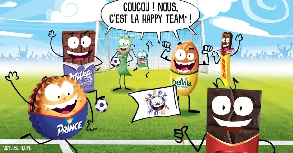happy foot happy team sylvain wiltord euro 2016 football mondelez milka prince cote d'or belvita carambar oreo