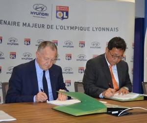 Sponsoring – Hyundai prolonge avec l'Olympique Lyonnais jusqu'en 2018