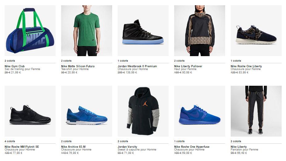 CODE PROMO : 20% sur une sélection de produits Nike en