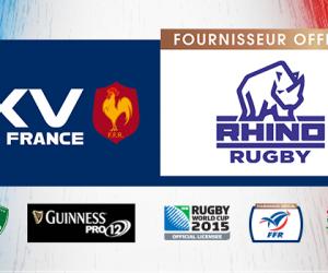 Rhino Rugby fournisseur officiel de la FFR et des Equipes de France de Rugby