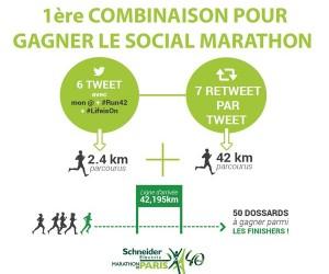 Gagnez votre dossard pour le Marathon de Paris 2017 sur Twitter avec le «Social Marathon»