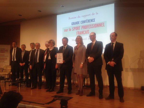 thierry braillard conférence sport professionnel français rapport 2016