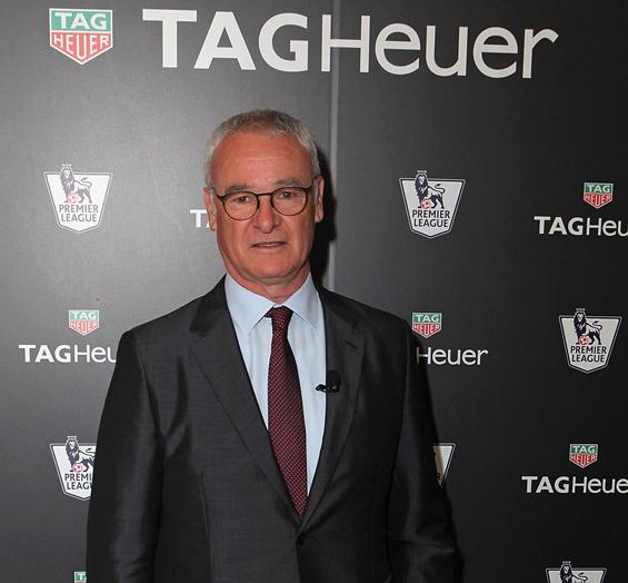 Claudio ranieri sponsor TAG Heuer