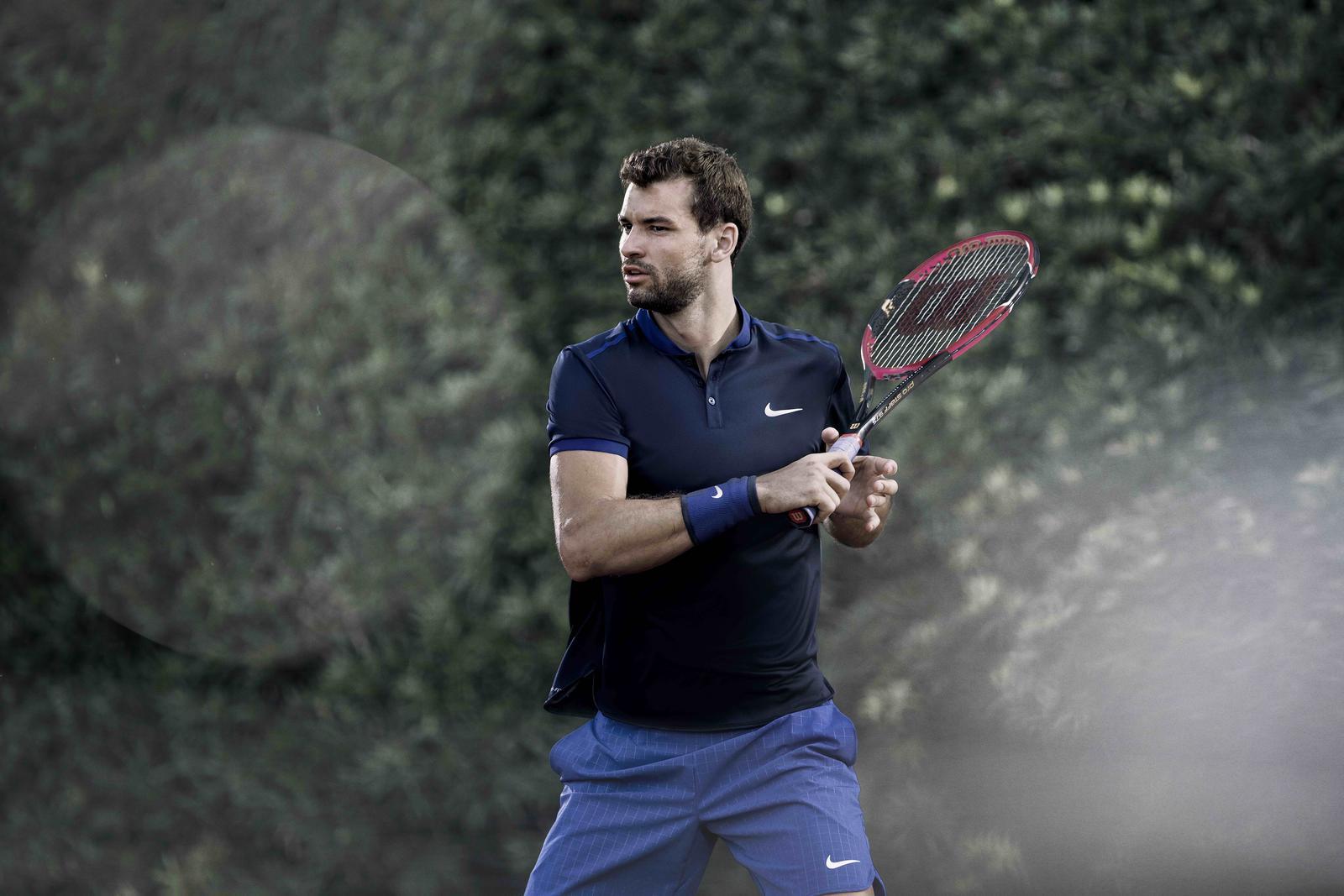 Grigor dimitrov polo nike roland-garros 2016 tennis