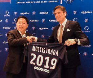 Le PSG signe un partenariat global avec l'indonésien Multistrada pour les pneus Achilles et Corsa
