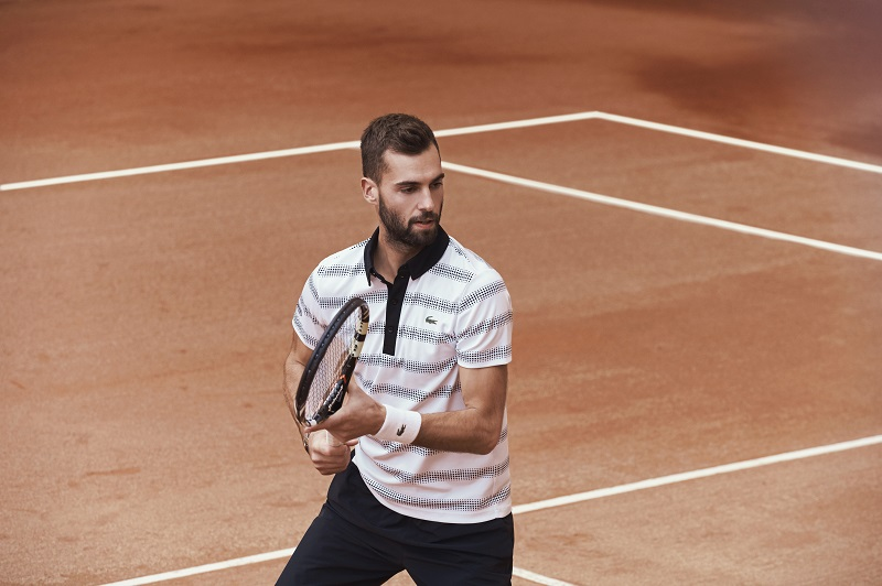 Polo Lacoste Benoit Paire Roland Garros 2016 tennis ...
