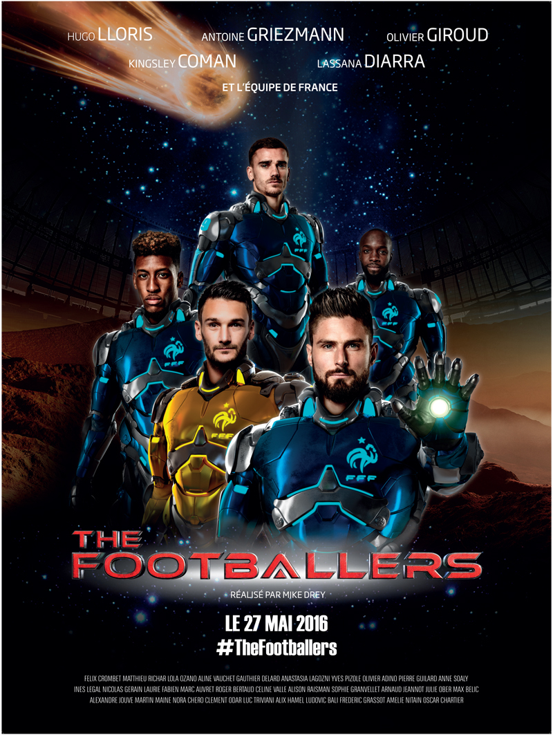 le film the footballers avec les joueurs de l 39 equipe de france de football en salle le 27 mai. Black Bedroom Furniture Sets. Home Design Ideas