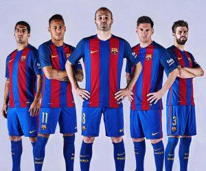 Le FC Barcelone présente son nouveau maillot domicile 2016-2017 Nike sans sponsor (pour le moment)