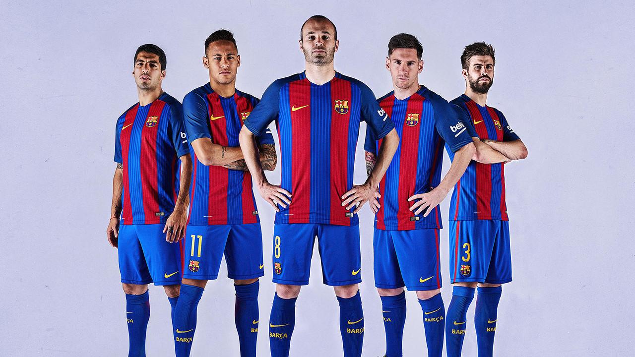 domicile Le 2017 FC nouveau son Barcelone présente 2016 Nike maillot qOFqaT
